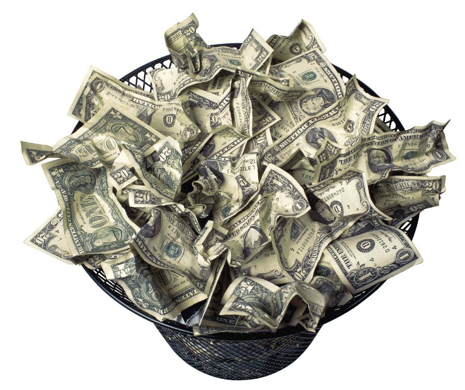 Weggegooid geld